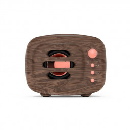 B11 Bluetooth 5.0 Stereo Vintange Loud Speaker Support TF Card AUX Input - Wood Grain