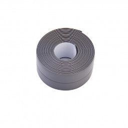 Caulk Tape Strip Bathroom Kitchen Self Adhesive Sealant Tape Edge Sink Wall 2.2x3.2cm - Grey