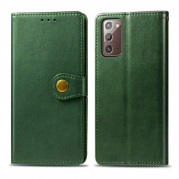 Magnetic PU Leather Wallet Case Cover for Samsung Galaxy Note 20 - Green