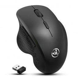 T68 Wireless Mouse 1600DPI Optical Mini Portable Mobile with USB Receiver - Black