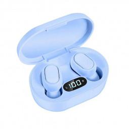 E7S TWS Wireless V5.0 Bluetooth Earphones Mini Stereo Earbuds Macaron Colour - Blue