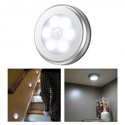 3 pcs Motion Sensor Lights PIR Wireless Night Light Battery Cabinet Stair Lamp - White Light