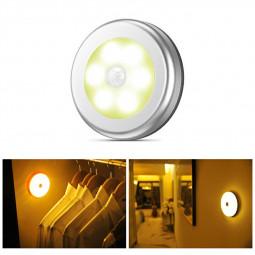 3 pcs Motion Sensor Lights PIR Wireless Night Light Battery Cabinet Stair Lamp - Warm Light