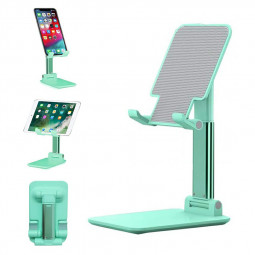 Foldable Upgraded Cell Phone Tablet Desktop Stand Holder - Green