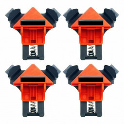 4 pcs Multi function 90 Degree Right Angle Clamps Woodworking Clip Fixer Hand Tools