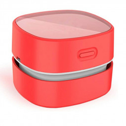 Mini Portable Desktop Dust Handheld Cordless Vacuum Cleaner USB Charging - Red