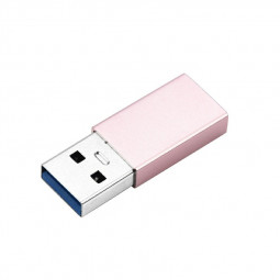 USB-C Female to USB-A Male Adapter - Rose Gold