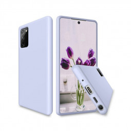 Soft Rubber Shockproof Cover Liquid Silicone Gel Case for Samsung Galaxy Note 20 - Purple
