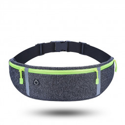 Outdoor Waterproof Belt Bag Sports Riding Mobile Phone Waist Bag - Hemp Grey