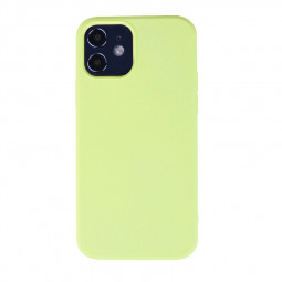 Liquid Silicone Gel Rubber Shockproof Cover Back Case for iPhone 12 - Green