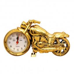 Fashion Creative Motorcycle Alarm Clock Home Decoration Wall Clock Desktop Clock - Gold