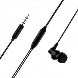 M18 In-Ear 3.5m Wired Earphones with Microphone Strong Bass-driven Stereo Sound - Black