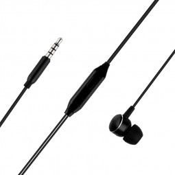 M19 In-Ear 3.5m Wired Earphones with Microphone Strong Bass-driven Stereo Sound - Black