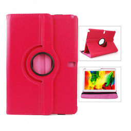 360 Degree Rotating Flip Case for Samsung Galaxy Note 10.1 P600 - Hot Pink