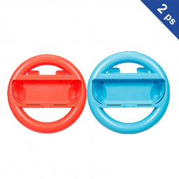 2 Pcs Steering Wheel Grip Accessories for Nintendo Switch - Red + Blue