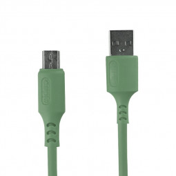 1m Silicone Material Ultra Soft Micro USB Android Charging Cable - Green