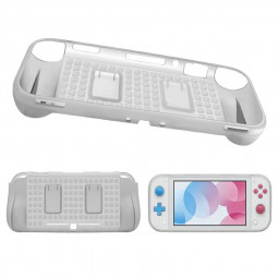 Protective Soft Silicone Hand Grip Skin Shell Cover Handle Holder for Nintend Switch Lite - White