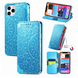 Magnetic PU Leather Wallet Card Case Cover for iPhone 11 Pro - Blue