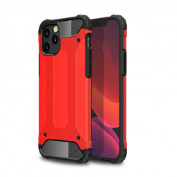 Rugged Armor TPU + PC Combination Case for iPhone 12 Pro Max - Red
