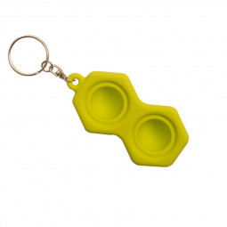 Hexagon Press Bubble Fun Mini Pressure Relief Fingertip Silicone Finger Practice Keychain - Green