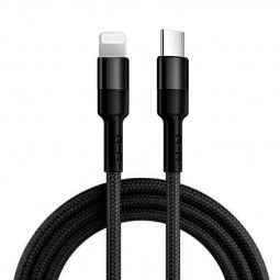 USB 31 Type-C USB-C to 8pin Nylon Braided PD Fast Charging Cable - Black