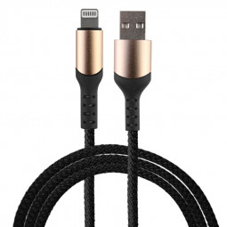 8 pin Flexible Braided Charging Cable for iPhone iPad - Black