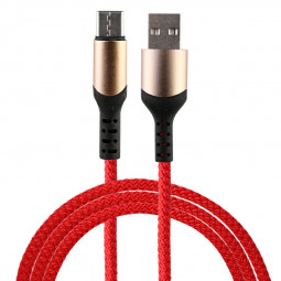 1m Fabric Braided Type C USB 3.1 Charging Cable - Red