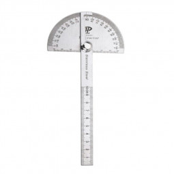 Stainless Steel Protractor 0-180 degrees with Round Head