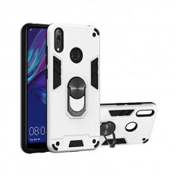Armor Dual Layer Shockproof Protective Case for Huawei Y7 2019/Y7 Prime 2019/ Y7 Pro 2019/Enjoy 9 - Silver