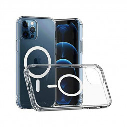 Clear Magnetic Safe Back Case Protective Phone Cover for iPhone 12 Pro Max