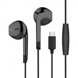 USB C Digital Earbuds with Microphone Noise Cancelling HiFi Stereo Headphones.