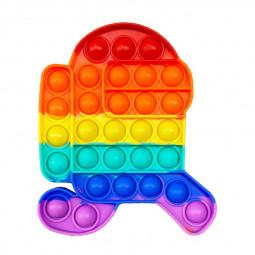 Pop it Fidget Board Among Us Pop it Easy Carry Durable and Fun - Running Rainbow