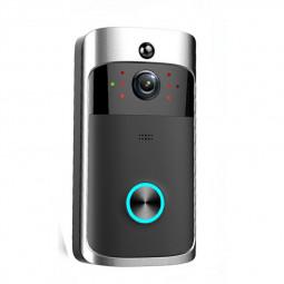Smart Wireless Wifi Video Doorbell Free Hole Anti-theft Monitoring Doorbell - Black