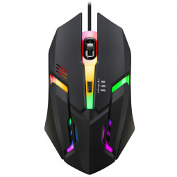 K2 1600 DPI Wired LED Gaming Mouse with 7 Auto-Changing Color