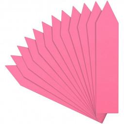 100 pcs 4 Inch Plastic Plant Nursery Garden Labels - Pink