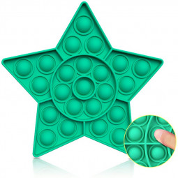 Pop it Fidget Five-pointed Star a Loud Side and a Quiet Side to Pop - Green