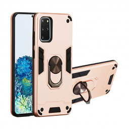 Armor Heavy Duty Dual Layer Ring Hard Protective Case for Samsung Galaxy S20 Plus - Rose Gold