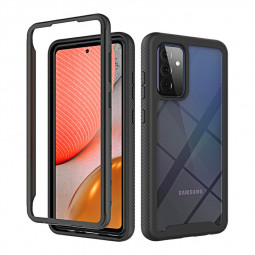 360 Full Body Slim Armor Case with Front Frame for Samsung Galaxy A72 4G/5G - Black