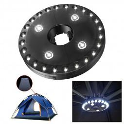 28 LED Umbrella Lights Parasol Lights 3 Brightness Mode Outdoor Garden Lamps - Black