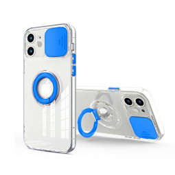 TPU Gel Rubber Shockproof Cover Protective Back Case for iPhone 12 - Blue