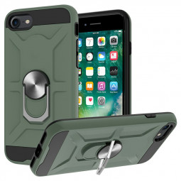 Armor Heavy Duty Dual Layer Ring Shockproof Hard Case for iPhone 6 7 8 SE 2020 - Green