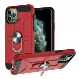 Armor Heavy Duty Dual Layer Ring Shockproof Hard Case for iPhone 11 Pro - Red