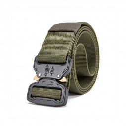 Quick Release Work Belts Tactical Black Men Combat Army Nylon Buckle Waistbelt - Green