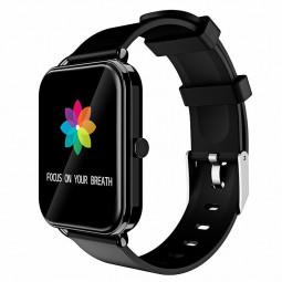 G16 16 inch Full Tentacle Smart Watch Fitness Tracker IPS Calories Heart Rate Sleep Monitor Wrist Band - Black