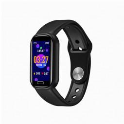 Y16 Bluetooth Call Smart Bracelet Fitness Tracker Smart Watch Wristbands - Black