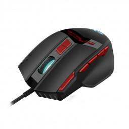 GM28B 3200 DPI RGB Lighting 10 Keys Computer Wired Gaming Mouse - Black
