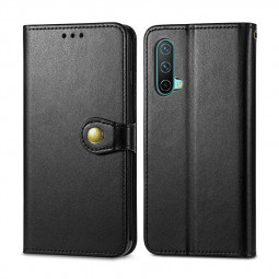 Magnetic PU Leather Wallet Case Cover for OnePlus Nord CE 5G - Black