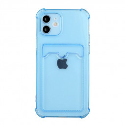 TPU Soft Skin Silicone Protective Case for iPhone 12 - Blue