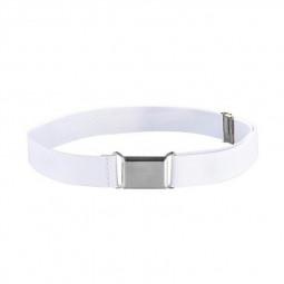 Adjustable Elastic Alloy Buckle Snake Belts for Boys and Girls - White
