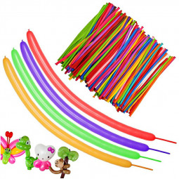 100 pcs Magic Balloons Colorful Long Latex Balloons Twisted DIY Animal Balloons Party Decorations